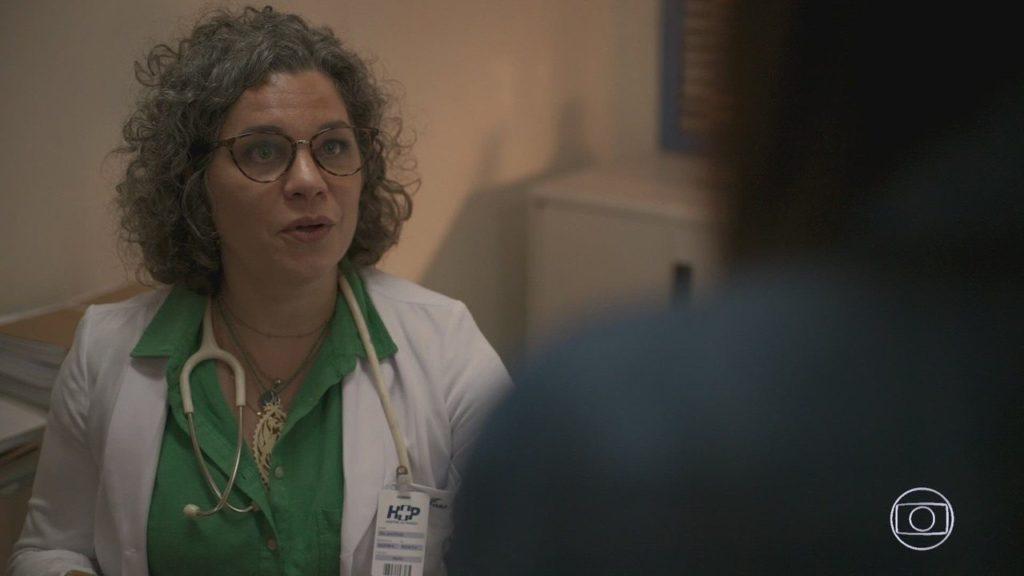 Jane em cena da novela Amor de Mãe