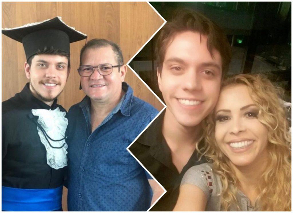 Ximbinha foi na formatura do filho de criação, Yago Mendes, enquanto Joelma faltou na festa do próprio filho (Foto montagem: TV Foco)