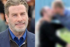 John Travolta fala pela primeira vez sobre suposto caso homossexual e foto de beijo é exposta (Foto: Reprodução)