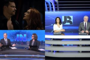 Jornal Nacional, Jornal da Record e Amor Sem Igual foram destaques de audiência (Foto: Reprodução/Record/TV Globo/Montagem TV Foco)