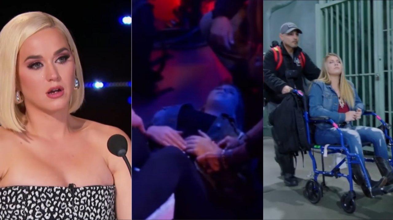 Katy Perry chora após participante sofrer convulsão no American Idol (Foto: Reprodução)