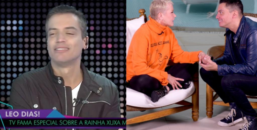 Leo Dias fala sobre entrevista que realizou com a apresentadora Xuxa (Foto: Montagem/TV Foco)