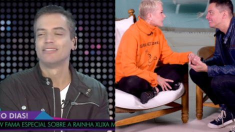 Leo Dias fala sobre entrevista que realizou com Xuxa (Foto: Montagem/TV Foco)