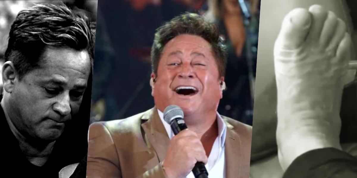 O cantor Leonardo virou motivo de desespero e preocupação, agora de Gusttavo Lima (Foto montagem: TV Foco)
