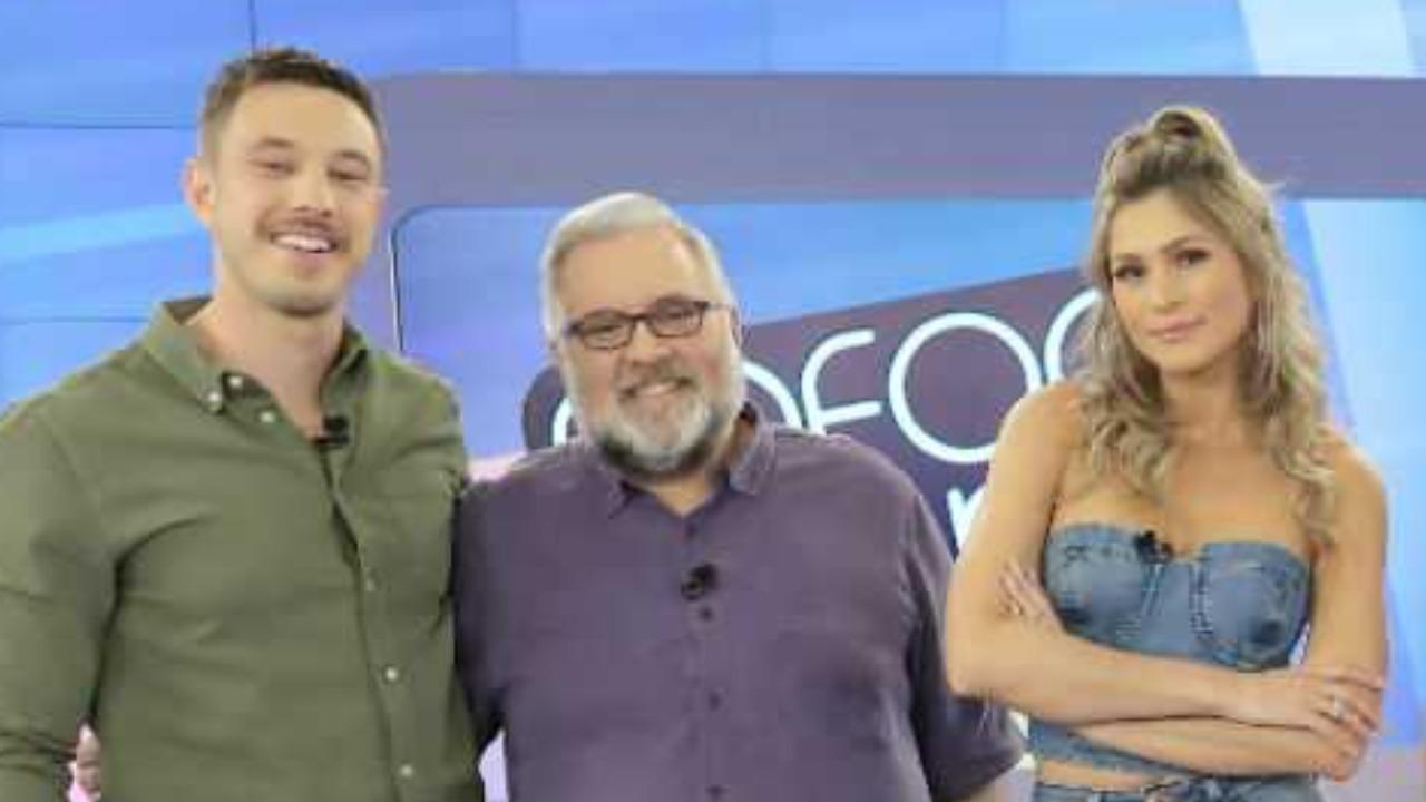Gabriel Cartolano, Leão Lobo e Lívia Andrade foram detonados (Foto: Divulgação/SBT)