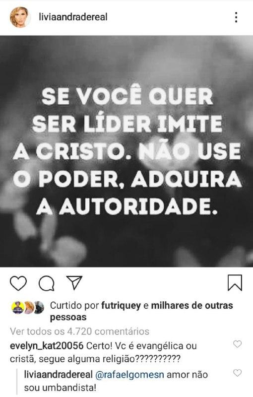 Lívia Andrade mandou recado em suas redes sociais (Foto: Reprodução/ Instagram)