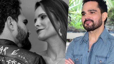 Luciano Camargo e a atual esposa Flavia Camargo (Foto montagem: TV Foco)