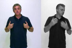 Luciano Huck gravou comunicado para programa de sábado passado (Foto: Reprodução/TV Globo)