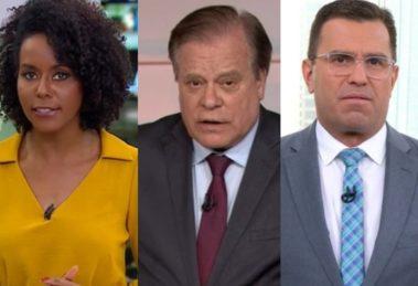 Globo afasta jornalistas de outros estados e mantém somente cariocas no comando do JN (Foto: Reprodução)