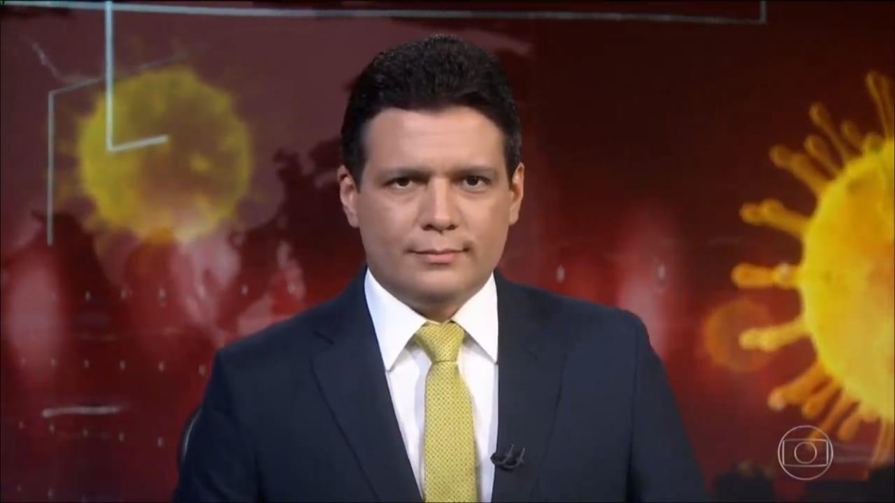 Marcelo Magno faz parte do rodízio fixo do Jornal Nacional (Foto: Reprodução/TV Globo)