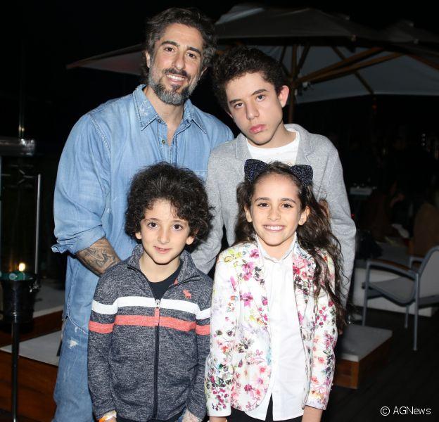 O paulistano e seus três filhos (Foto: AgNews)