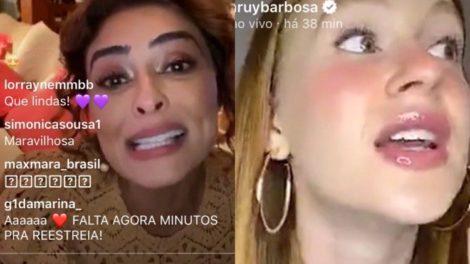 Marina Ruy Barbosa relembra dos bastidores de Totalmente Demais com Juliana Paes (Montagem: TV Foco)
