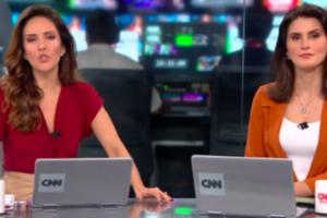 Monalisa Perrone e Carol Nogueira à frente do Expresso CNN;
