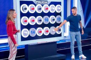 Rebeca Abravanel 'obrigou' Pato a apresentar o Roda a Rosa Jequiti (Foto: Reprodução/ SBT)