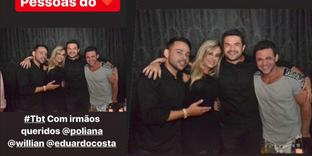 Poliana Rocha parece ser mais próxima de Eduardo Costa do que todos imaginavam (Foto: Reprodução/ Instagram)