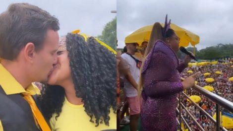 Preta Gil celebra casamento em seu trio no último dia de carnaval de São Paulo (Foto: Reprodução/Instagram)