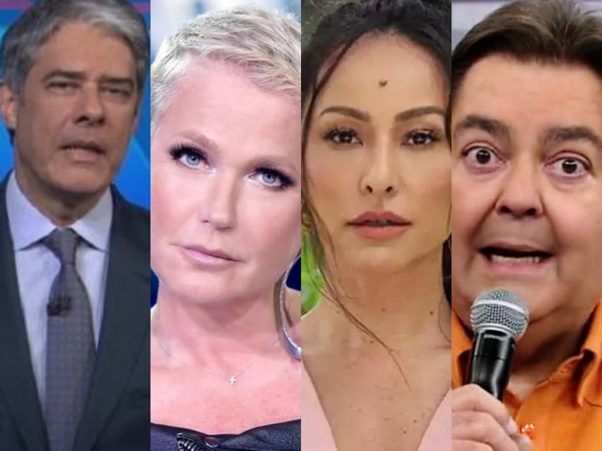 Previsões de William Bonner, Xuxa Meneghel, Sabrina Sato e Faustão causam alvoroço em público (Foto: Reprodução/Montagem TV Foco)