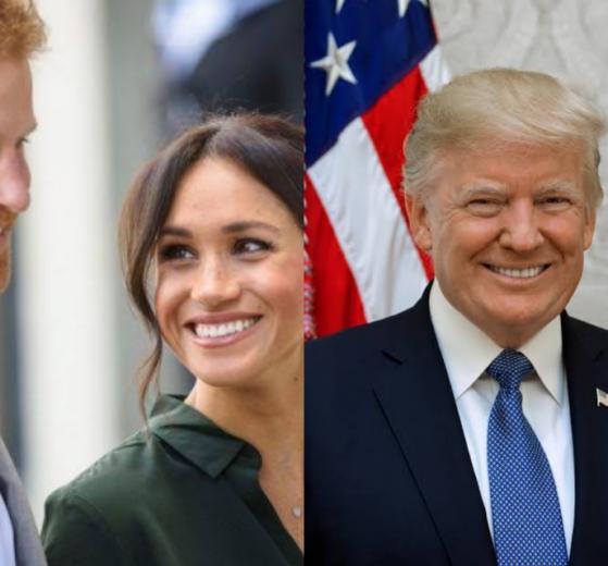 O presidente Donald Trump disse que os Estados Unidos não vai pagar a segurança de Harry e Meghan Markle (Foto: Reprodução)