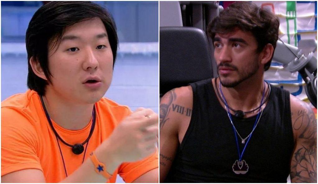 Pyong ficou revoltado com atitude de Guilherme no BBB - Foto: Montagem