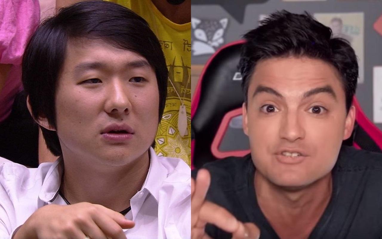 Após sair do BBB20, Pyong Lee comentou atrito com Felipe Neto (Foto: Montagem TV Foco)