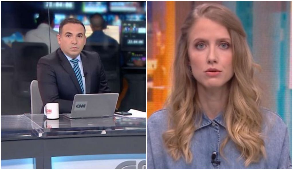 O apresentador Reinaldo Gottino debateu com Gabriela Priolli no CNN Novo Dia - Foto: Montagem