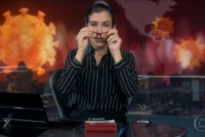 Renata Vasconcellos leu comunicado oficial do Lollapalooza (Foto: Reprodução/TV Globo)