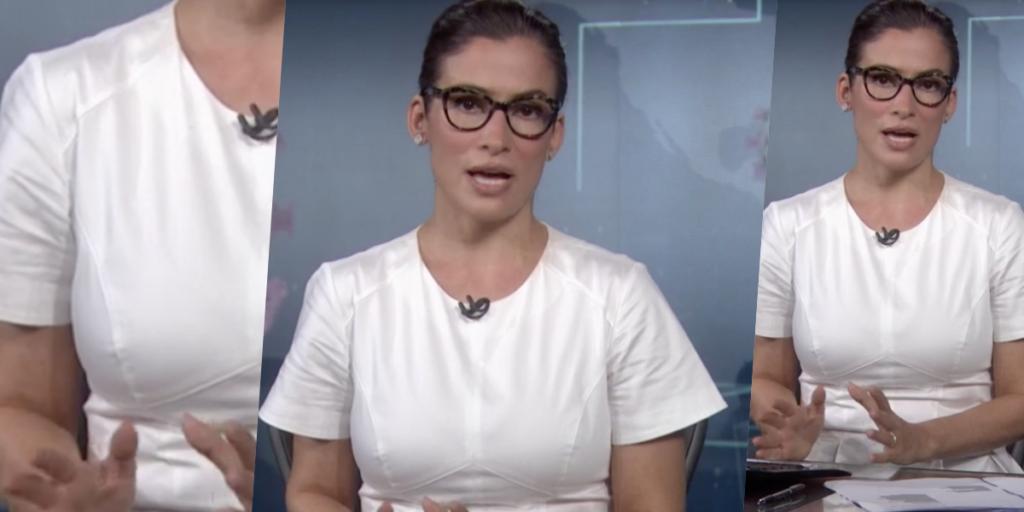 Renata Vasconellos foi acusada de ser traída pela roupa ao vivo no Jornal Nacional (Foto montagem: TV Foco)