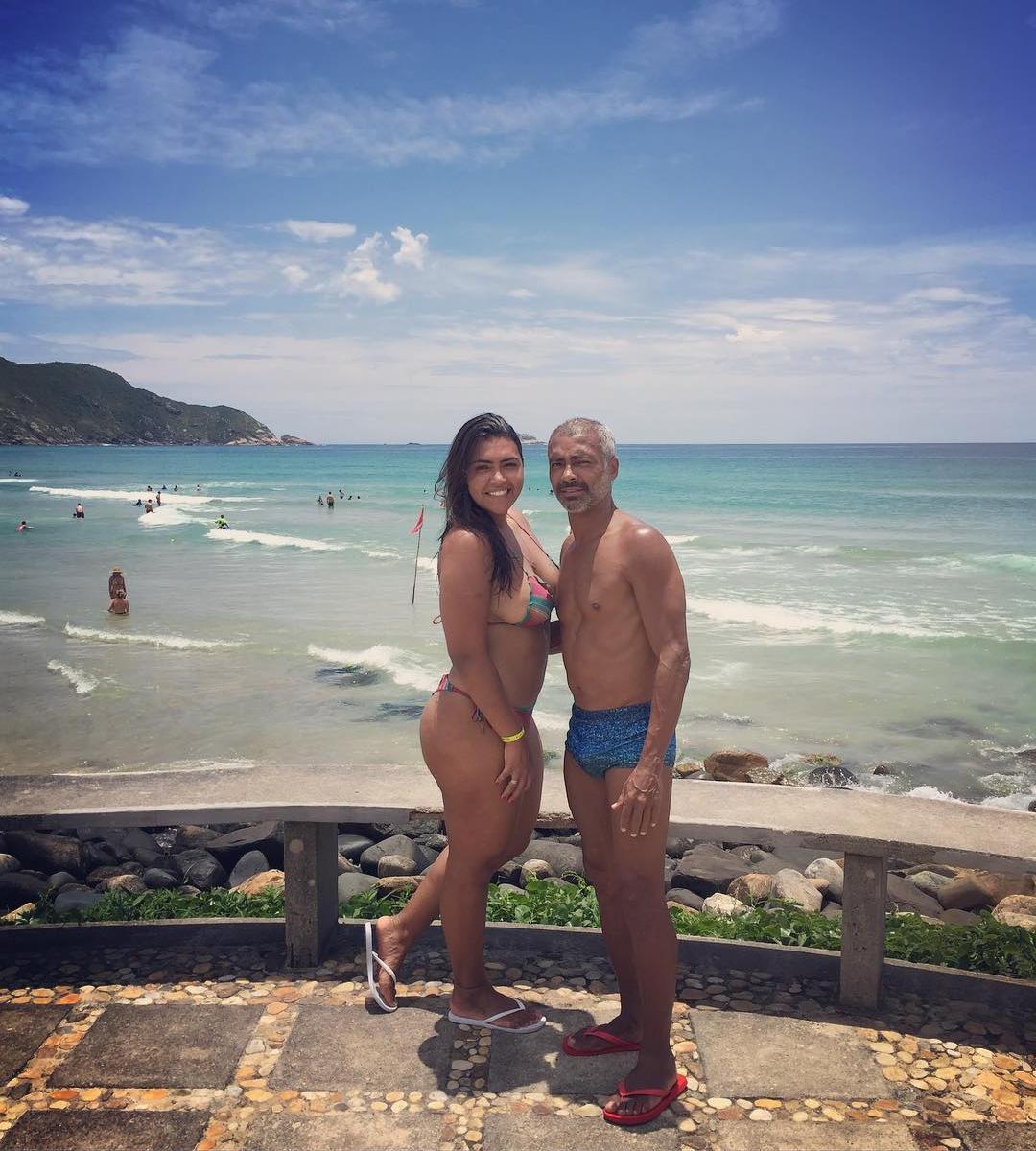 Romário ao lado da filha (Foto: reprodução/Instagram@fariamonica)