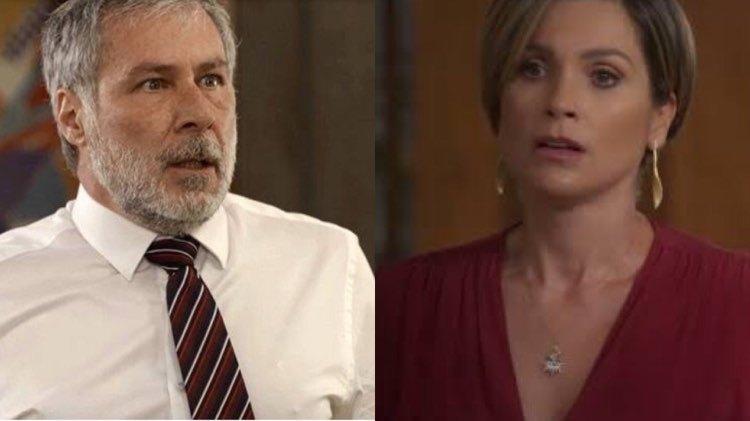 Hugo (Leopoldo Pacheco) armou contra Helena (Flávia Alessandra) em Salve-se Quem Puder (Foto: Reprodução/Globo/Montagem TV Foco)