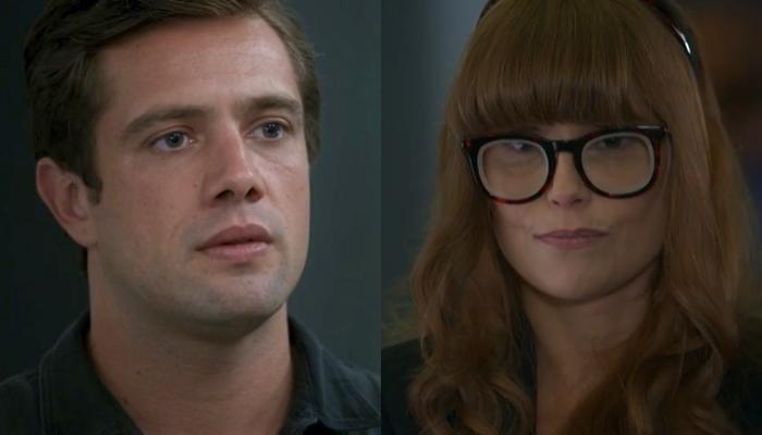 Renzo (Rafael Cardoso) flagrará espionagem de Alexia (Deborah Secco) em Salve-se Quem Puder (Foto: Reprodução/Globo)