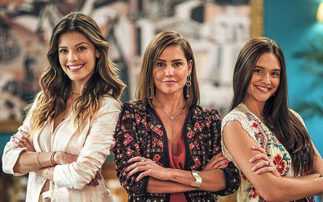 Vitória Strada (Kyra), Deborah Secco (Alexia) e Juliana Paiva (Luna) em Salve-se Quem Puder (Foto: Divulgação/Globo)