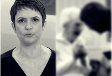 Sandra Annenberg se recusa a dar abraço (Foto: Reprodução)