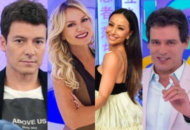 Faro, Eliana, Sabrina e Portiolli (Foto: Reprodução)