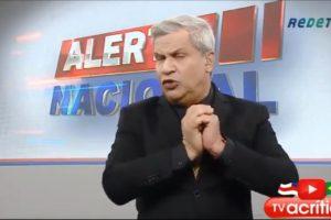 Sikêra Jr em seu programa, o 'Alerta Nacional' (Foto: reprodução/RedeTV!)