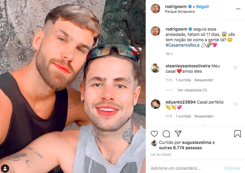 Sobrinho de Silas Malafaia esbanja felicidade ao lado de noivo (Foto: Reprodução/Instagram)