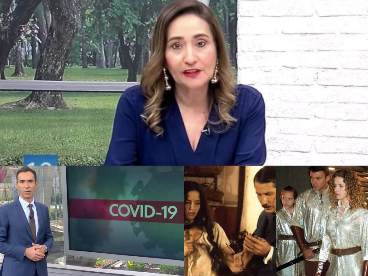 Audiência da TV desta terça-feira, 24 de março: Sonia Abrão leva A Tarde É Sua às alturas, Cesar Tralli deixa rivais na lama e novelas jogam audiência da Record no fundo do Oceano (Foto: Reprodução/Montagem TV Foco)