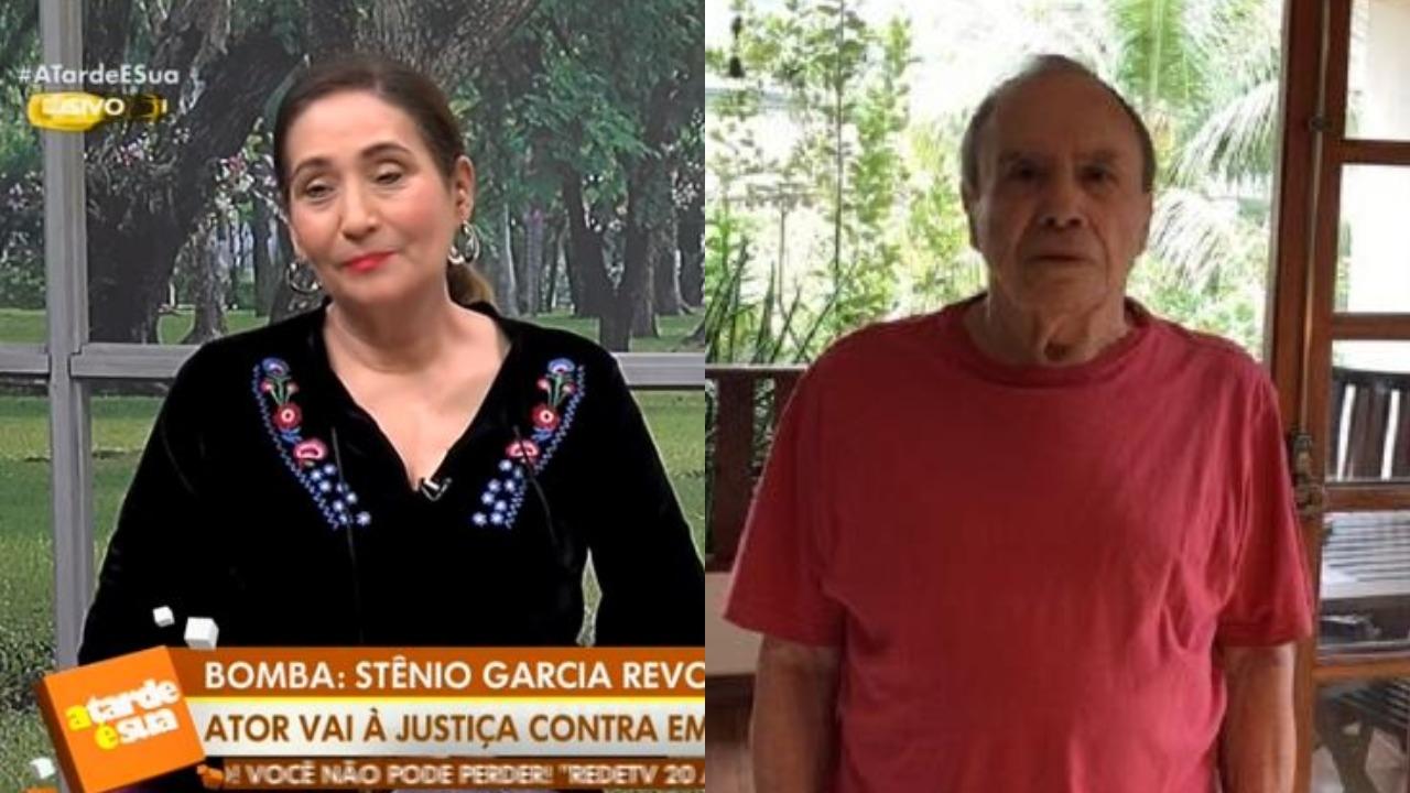 Sonia Abrão revelou o verdadeiro drama que Stênio Garcia tem passado (Foto: Reprodução/RedeTV!/Montagem TV Foco)