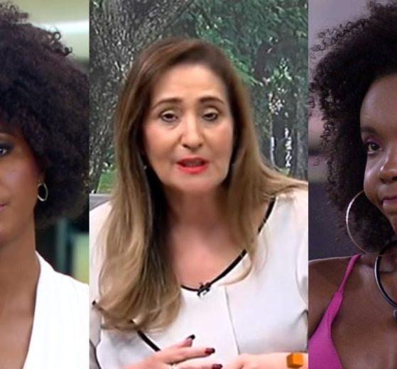Sonia Abrão defendeu Thelma e Maju Coutinho de Rodrigo Branco (Foto: Reprodução/RedeTV!/TV Globo/Montagem TV Foco)