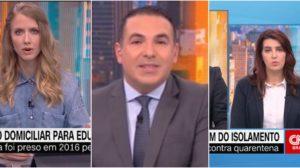 Gisele Soares, substituta de Gabriela Prioli, em quadro comandado por Reinaldo Gottino, na CNN Brasil, foi afastada por problemas de saúde (Reprodução)