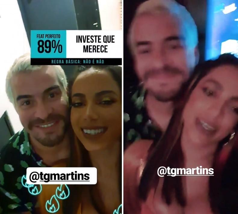 Thiago Martins e Anitta brincaram com seus personagens em Amor de Mãe (Foto: Reprodução/Instagram)