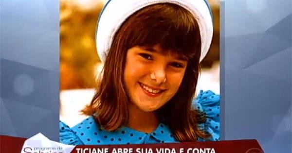 Ticiane Pinheiro na infância (Foto: reprodução)