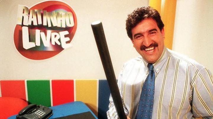 Ratinho no seu programa na Record. (Foto: Divulgação)