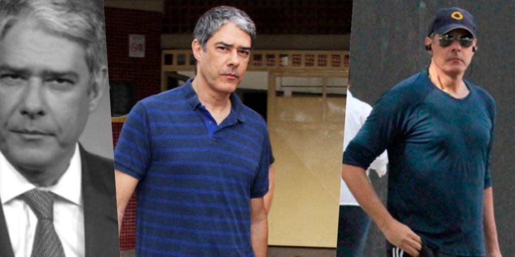 William Bonner do Jornal Nacional vira motivo de séria preocupação (Foto montagem: TV Foco)