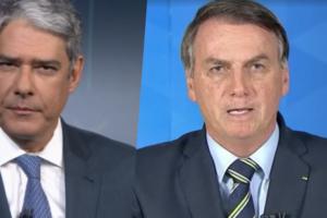 Jair Bolsonaro atacou William Bonner em seu pronunciamento (Foto montagem: TV Foco)