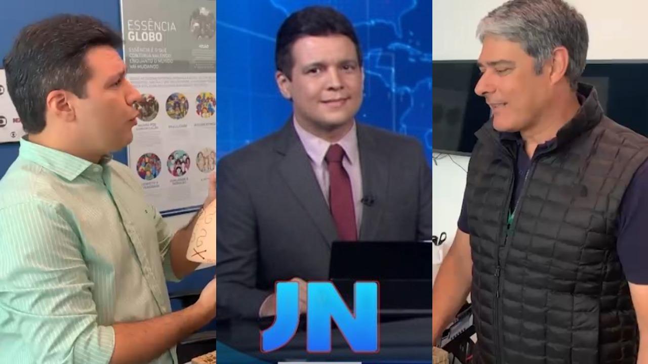 Marcelo Magno apresentou o Jornal Nacional no lugar de William Bonner (Foto: Reprodução/Instagram/TV Globo/Montagem TV Foco)