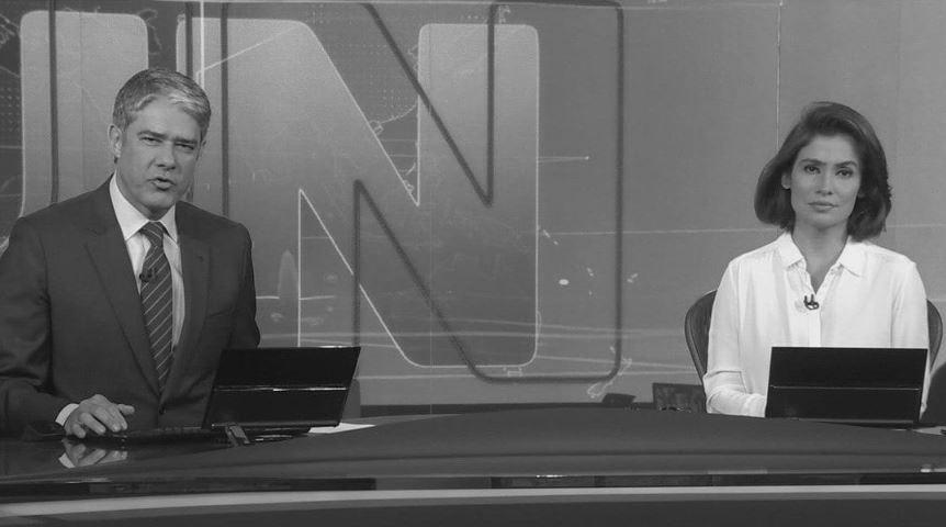 William Bonner e Renata Vasconcellos na bancada do Jornal Nacional (Foto: Reprodução/TV Globo)