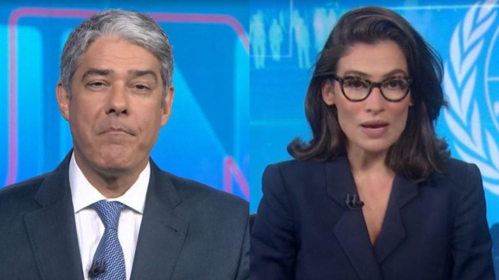 William Bonner e Renata Vasconcellos (Foto: Reprodução/TV Globo)