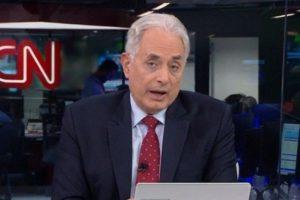 William Waack no comando do Jornal da CNN, que perdeu feio para a GloboNews na audiência (Foto: Reprodução/CNN Brasil)