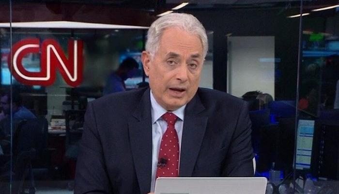 William Waack no comando do Jornal da CNN, principal atração do canal, que viu audiência desabar (Foto: Reprodução/CNN Brasil)