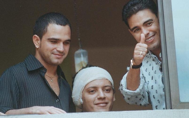 Zezé Di Camargo e Luciano com o irmão, Wellington Camargo (Foto: Weimer de Carvalho/O Popular)